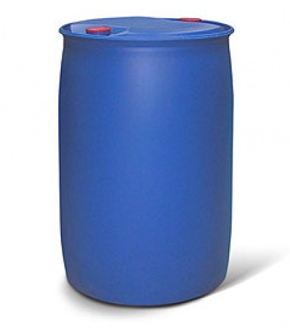 Monoethanolamine (MEA) in a plastic barrel of 227 liters